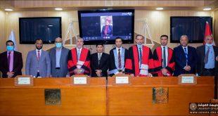 مناقشة علمية في جامعة الكوفة كلية القانون في اختصاص القانون الدولي الخاص  بعنوان (التجنس الاسثنائي-دراسة مقارنة ) .