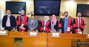 مناقشة علمية في جامعة الكوفة كلية القانون في اختصاص القانون  الخاص  بعنوان (تطبيق مبدا السيادةفي الجنسيةوالمركز القانوني لاجانب-دراسة مقارنة ) .